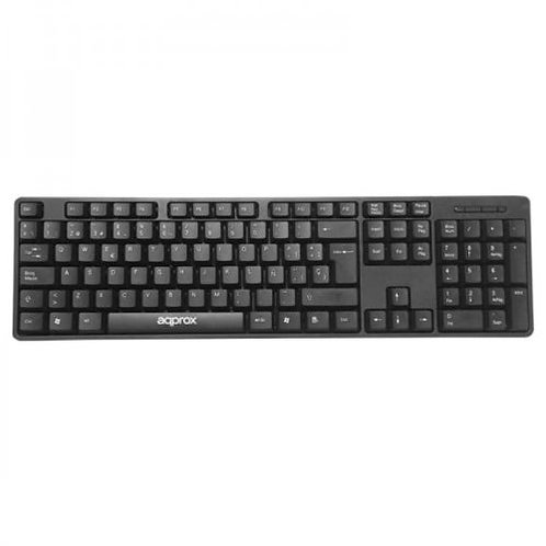 Approx Wired Keyboard, USB, Lightweight & Compact, Black