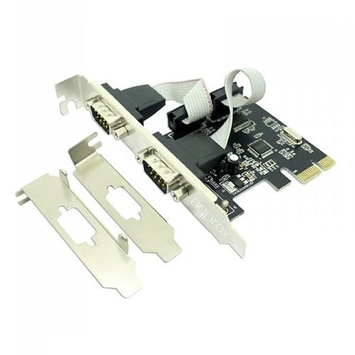 Approx (APPPCIE2S) 2-Port Serial Card, PCI Express, Low Profile Bracket