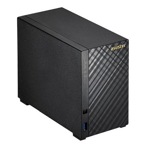 ASUSTOR AS1002T V2 2-Bay NAS Enclosure (No Drives), Dual Core 1.6GHz CPU, 512MB