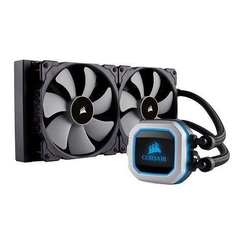 Corsair Hydro H115i PRO 280mm RGB Liquid CPU Cooler, 2 x 14cm PWM Fans, RGB LED