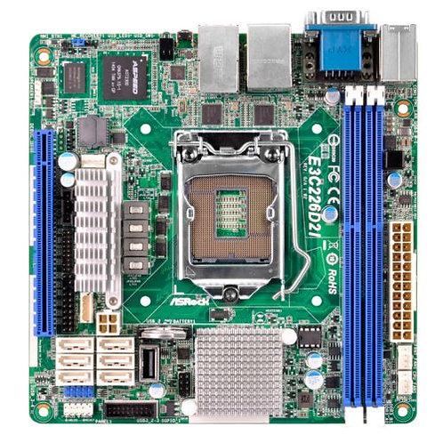 Asrock Rack E3C226D2I Server Board, Intel C226, 1150, Mini ITX, Dual GB LAN, IP
