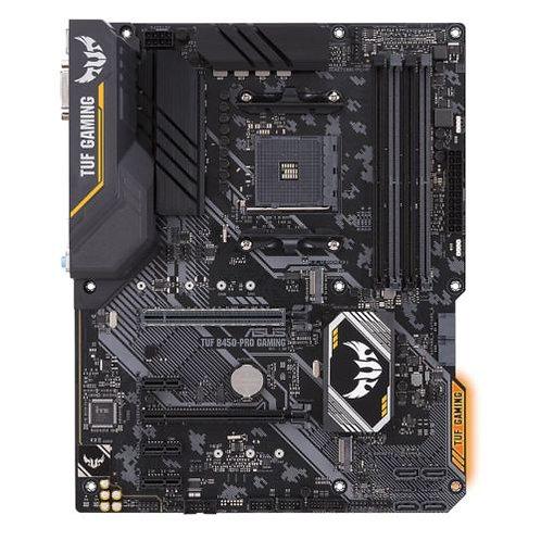 Asus TUF B450-PRO GAMING, AMD B450, AM4, ATX, 4 DDR4, XFire, DVI, HDMI, M.2, RG