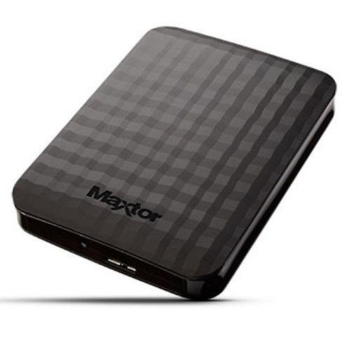 """Maxtor M3 Portable 1TB External Hard Drive, 2.5"""", USB 3.0, Black"""