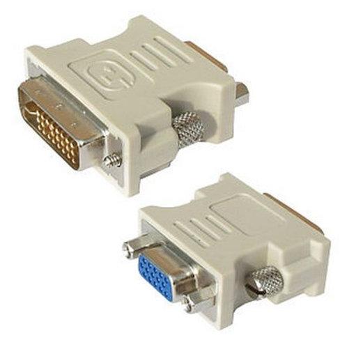 Spire DVI-I Male to VGA Female Converter Dongle, White