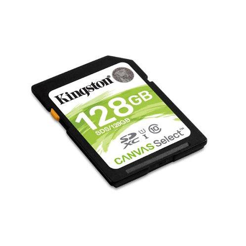 Kingston 128GB Canvas Select SDXC Card, Class 10