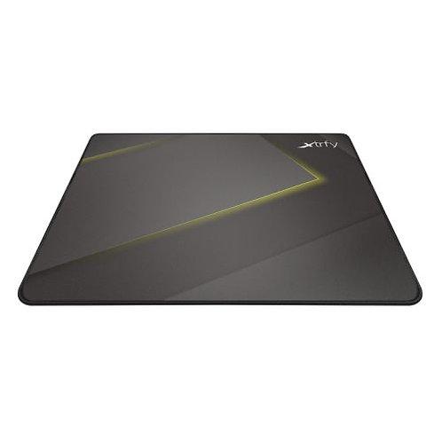 Xtrfy GP1 Large Surface Gaming Mouse Pad, Black & Yellow, Cloth Surface, Washab