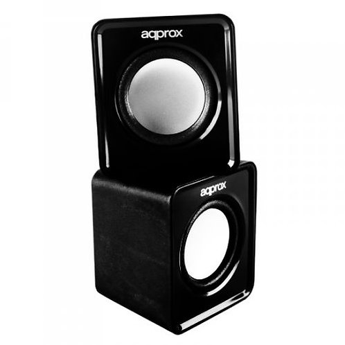 Approx (APPSPX1B) 2.0 Mini Stereo Speakers, 5W RMS, Black