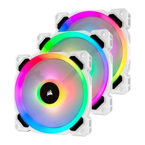 Corsair LL120 12cm PWM RGB Case Fan x3, 16 LED RGB Dual Light Loop, Hydraulic B