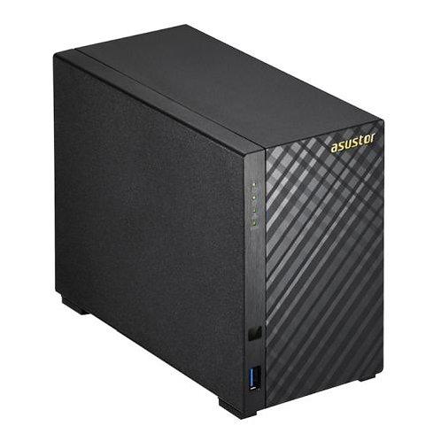 ASUSTOR AS3102T V2 2-Bay NAS Enclosure (No Drives), Dual Core CPU, 2GB DDR3L, H