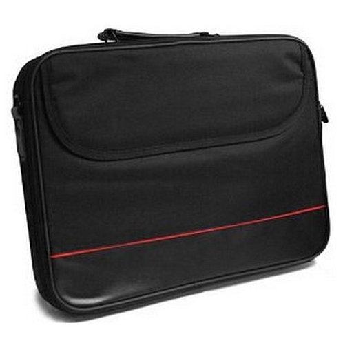 """Spire 15.6"""" Laptop Carry Case, Black with front Storage Pocket"""