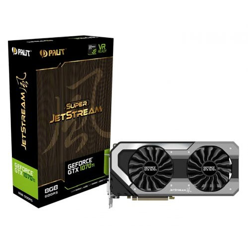 Palit GTX1070 Ti Super JetStream, 8GB DDR5, DVI, HDMI, 3 DP, 1797MHz