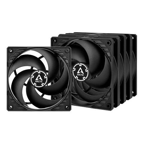 Arctic P12 Pressure Optimised 12cm Case Fans x5, Black, Fluid Dynamic, Value Pa