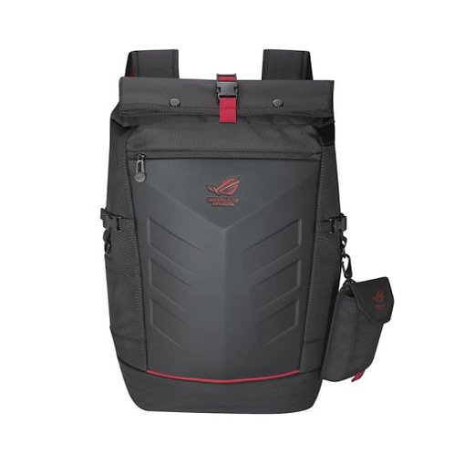 "Asus ROG Ranger Backpack, up to 17"" Laptops, Roll Top, Rain Cover, Black"
