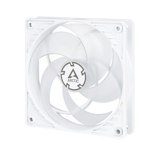Arctic P12 12cm Pressure Optimised PWM PST Case Fan, White & Transparent, Fluid