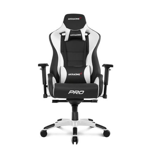 AKRacing Masters Series Pro Gaming Chair, Black & White, 5/10 Year Warranty