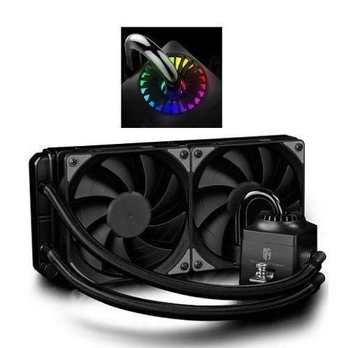 Deepcool GamerStorm Captain 240EX RGB Liquid CPU Cooler, 240mm Radiator, 2 x 12