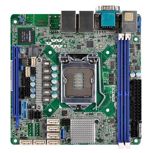 Asrock Rack E3C236D2I Server Board, Intel C236, 1151, Mini ITX, DDR4, Dual GB L