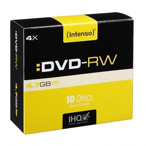 Intenso DVD-RW, Re-writable, 4.7GB/120 Minutes, 4x Speed, Single Layer, Slim Ca