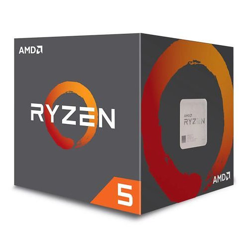 AMD Ryzen 5 1600 CPU with Wraith Cooler, AM4, 3.2GHz (3.6 Turbo), 6-Core, 65W,