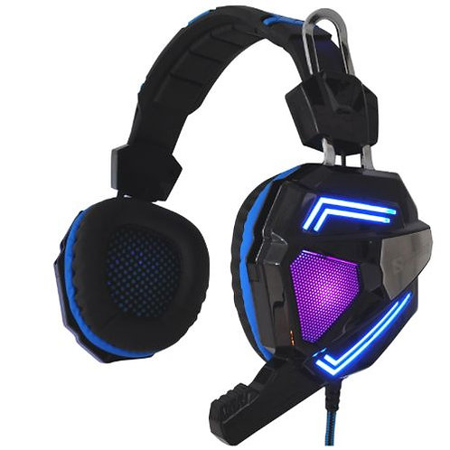 Sandberg (125-78) Cyclone Gaming Headset, 40mm Driver, Boom Mic, Multi-LED Ligh