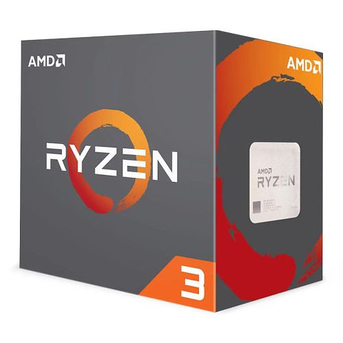 AMD Ryzen 3 1200 CPU with Wraith Cooler, AM4, 3.1GHz (3.4 Turbo), Quad Core, 65