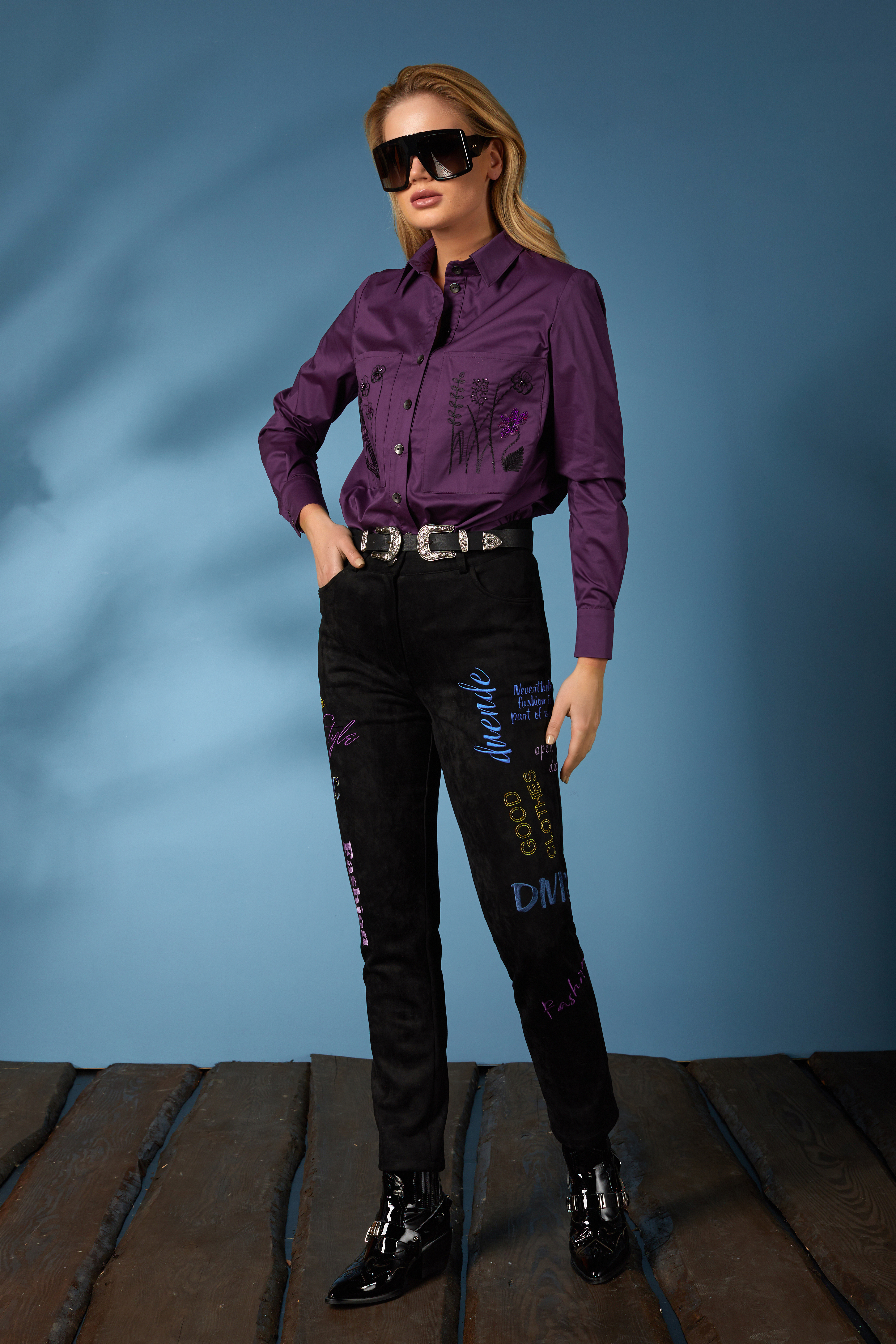 Рубашка 619-2, джинсы 631 (7)