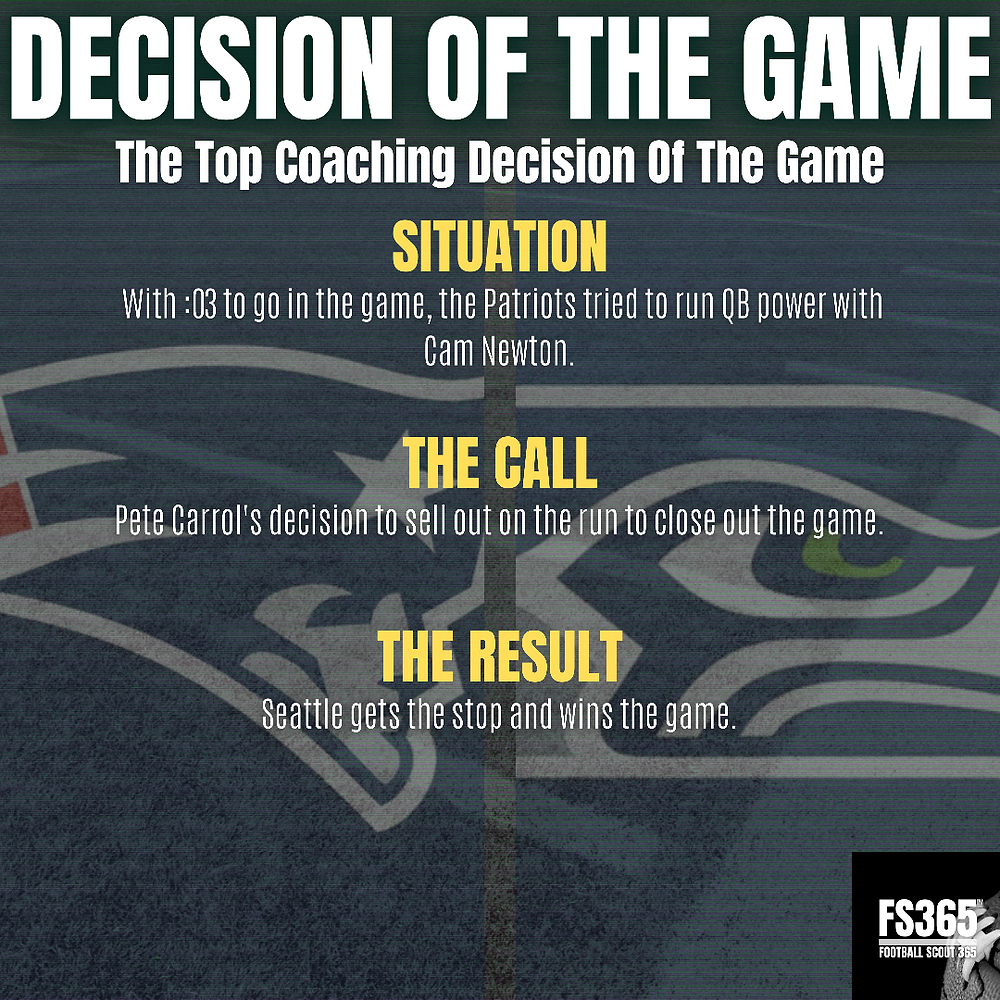 Seattle vs New England Decision of the Game