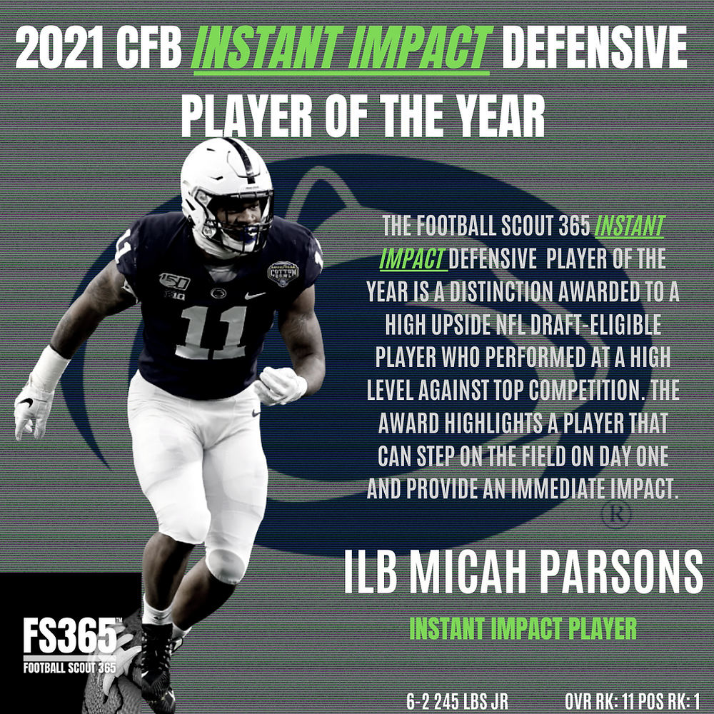 we believe that Parsons is, in fact, one of if not the top defender entering the 2021 NFL Draft.