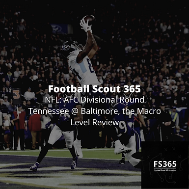 NFL: AFC Divisional Round Tennessee @ Baltimore, the Macro Level Review