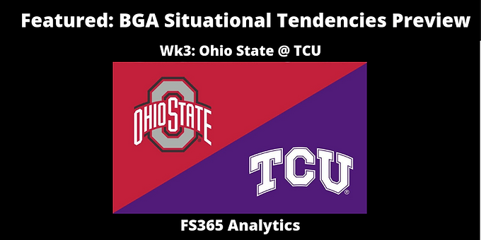 Featured: BGA Situational Tendencies Preview: Ohio State Offense v. TCU Defense
