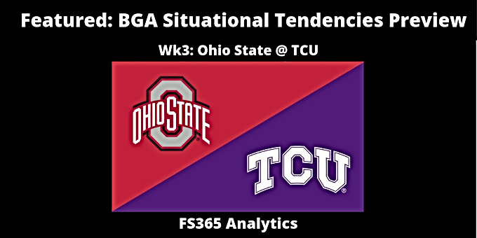 Featured: BGA Situational Tendencies Preview: TCU Offense v. Ohio State Defense