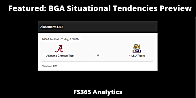 CFB 365 WK 10: Key Matchup Alabama Offense v. LSU Defense Situational Analysis.