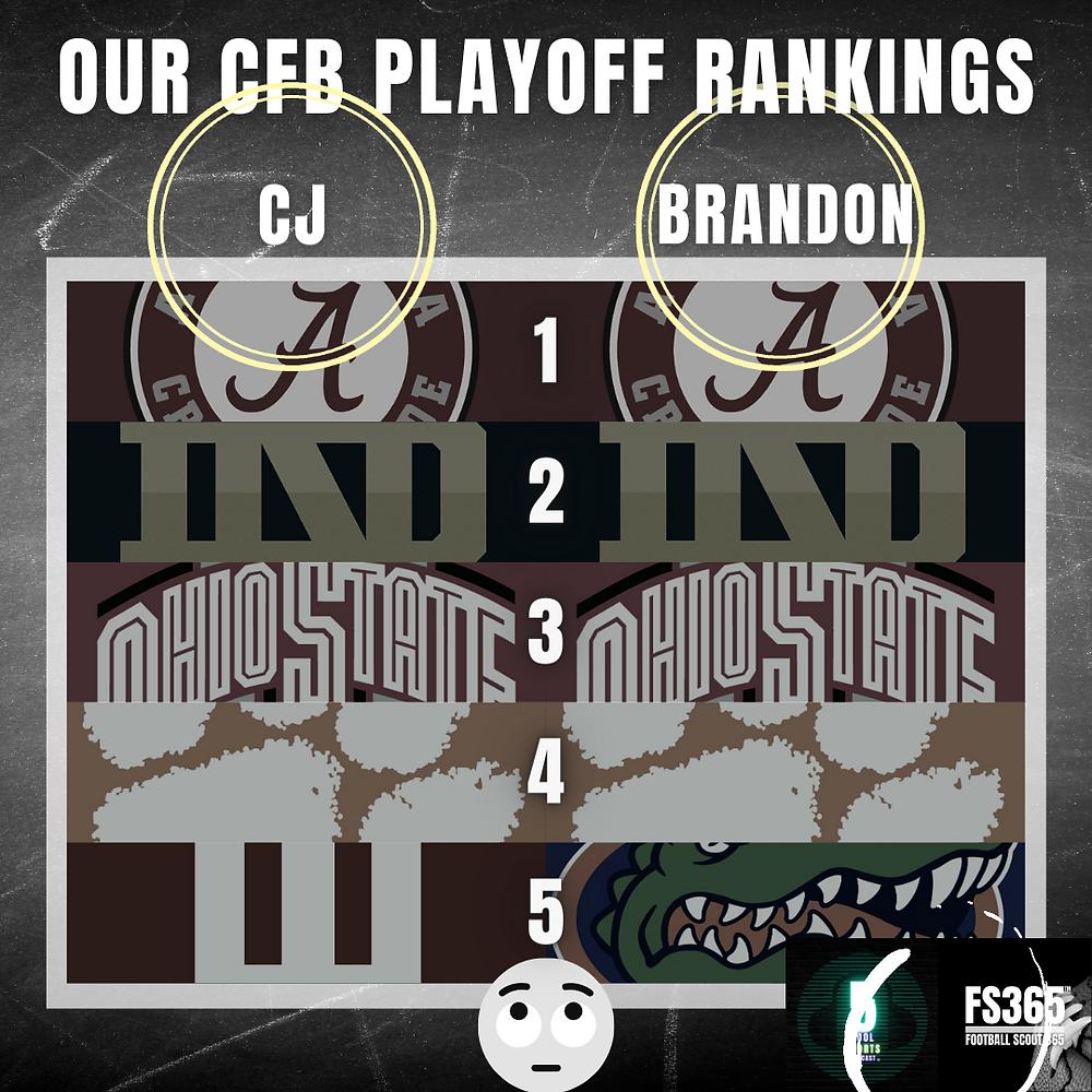 Brandon and CJ Make Their CFP Picks