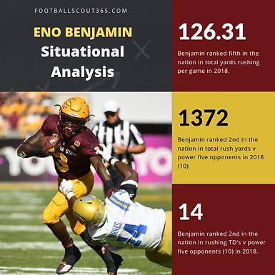CFB365 Situational Comparison and Production Share: ASU RB Eno Benjamin's 2018 Season.