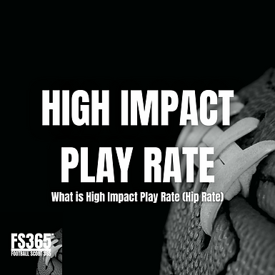 Measuring The Impact Of High Impact Play Rate Differential In The NFL