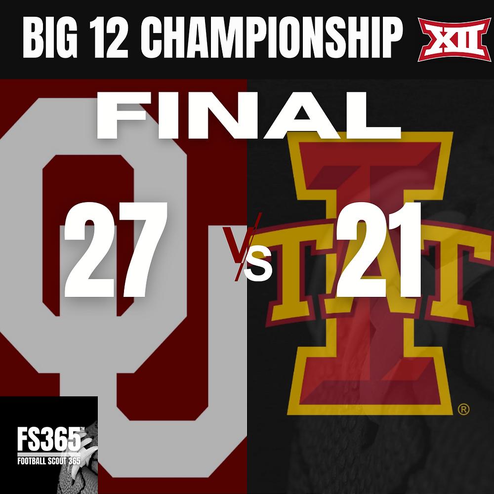 Big 12 Championship game Oklahoma vs Iowa State