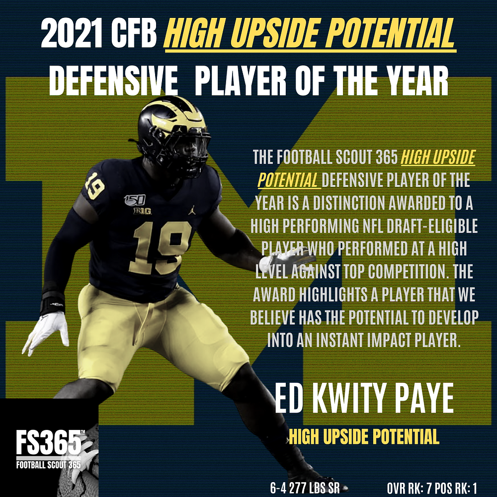Michigan Edge rusher Kwitty Paye is looking to be the guy that rises to the top of an edge rusher class that still has a lot of uncertainty to it.