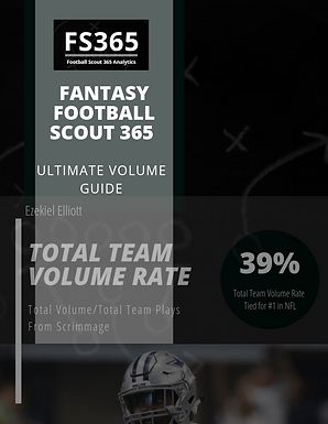 Fantasy Football Scout 365: 2019 Ultimate Volume Guide