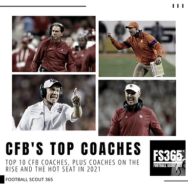 Top 10 CFB Coaches, Plus Coaches On the Rise And The Hot Seat In 2021