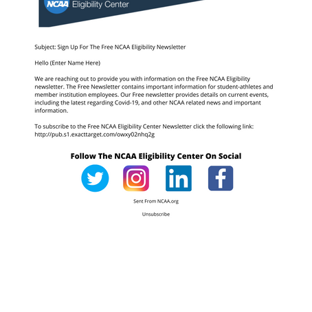 Evaluating The NCAA.org Email Marketing Strategy