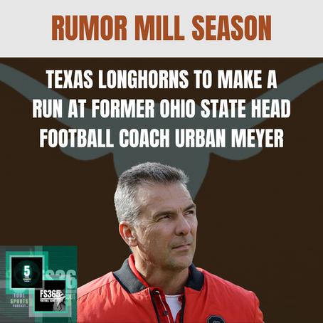 Rumor: Texas Longhorns Preparing To Make a Run At Former Ohio State Head Football Coach Urban Meyer
