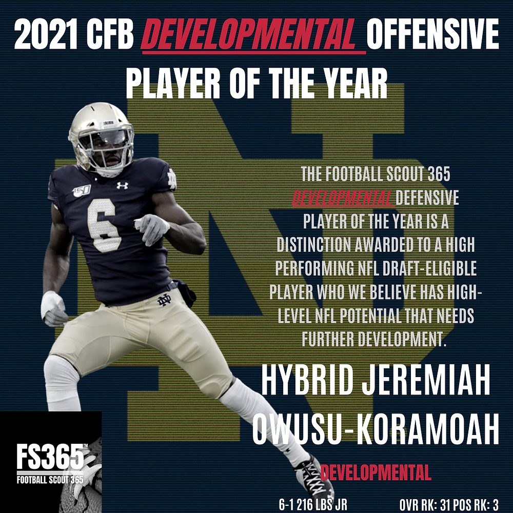Notre Dame Football's Jeremiah Owusu-Koramoah has the potential to become the NFL's next star hybrid defender.