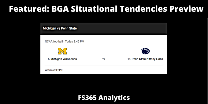 CFB 365 WK: Key Matchup Michigan Defense v. Penn State Offense Situational Analysis.