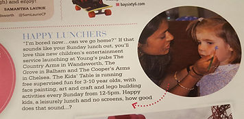The Kids Table in Wandswoth Magazine
