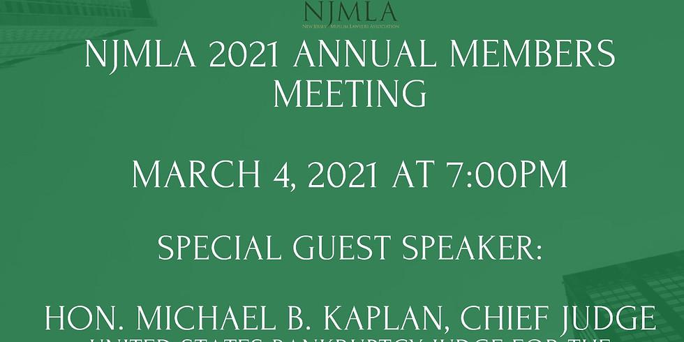 NJMLA 2021 Annual Members Meeting