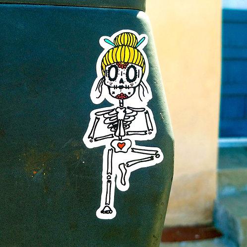 Day of the Yogi Sticker