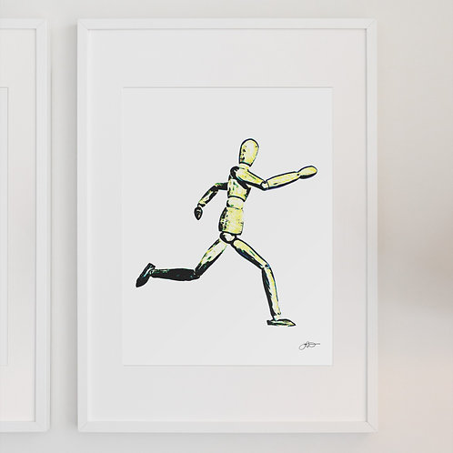 Running, Going the Distance, Abstract Art