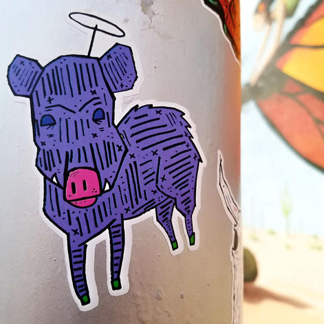 heavenly javelina sticker opctucson by C