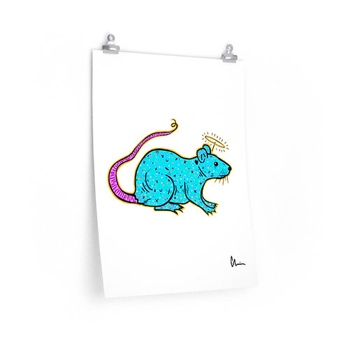 Pet Rat Angel Poster Print