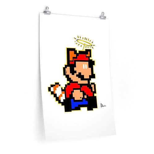 8-Bit Mario Pixel Poster Print